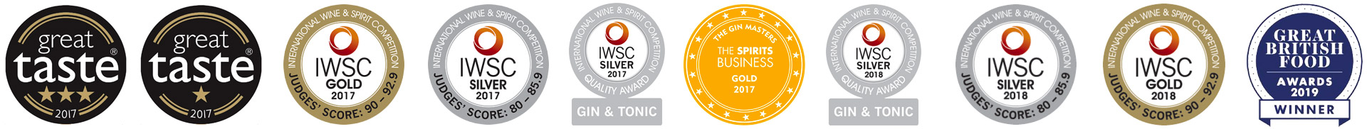 Our gin awards